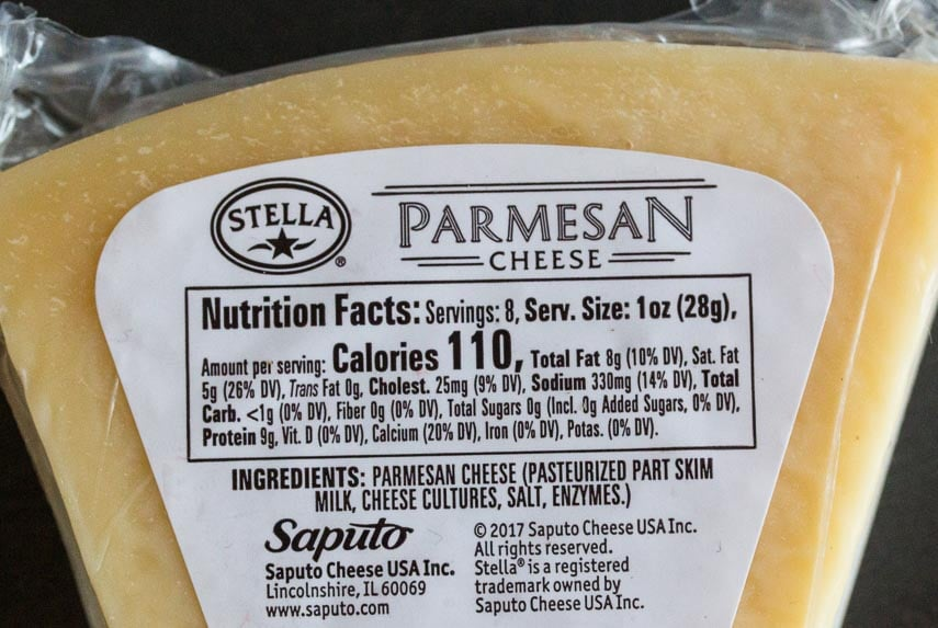 Parmesan label