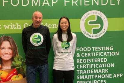 Tim Mottin and Charmaine Duong of FODMAP Friendly