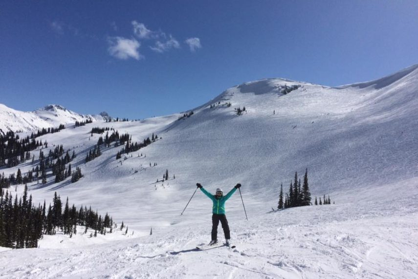 Meet Kathryn Adel MS, RD, CSSD - Our Sports Nutrition Focused Dietitian skiing!