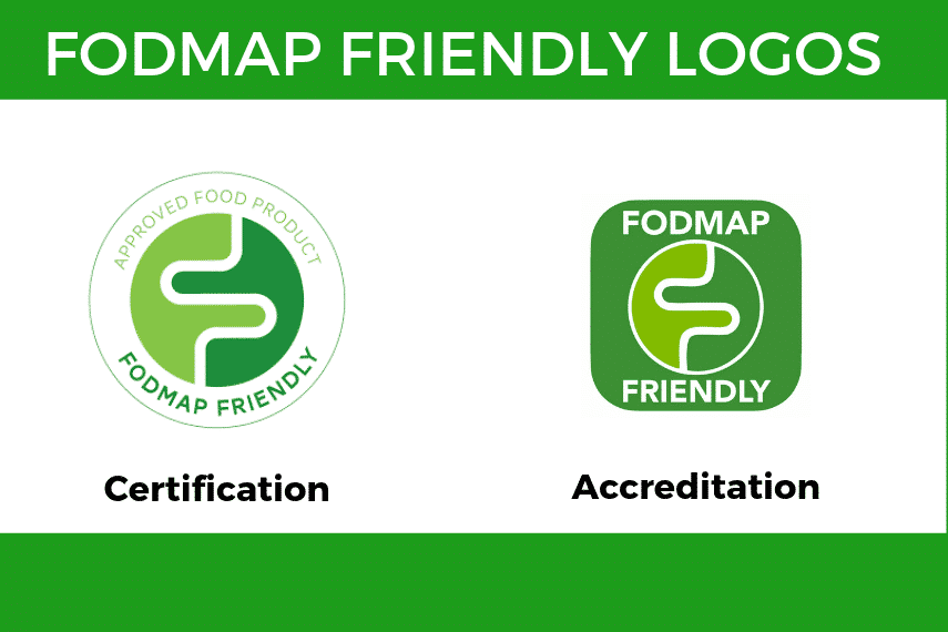 A grphic with the two FODMAP Friendly Logos displayed