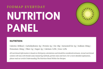 We teach you how to read our nutrition label for our low FODMAP recipes.