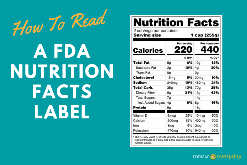 Learn How to Read A Nutrition Facts Label