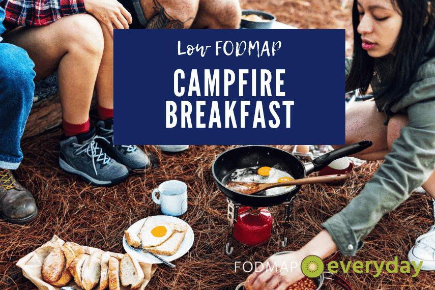 kids making breakfast on a camp stove