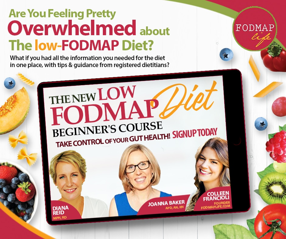 Advertisement for The New Low FODMAP Diet Beginners Course