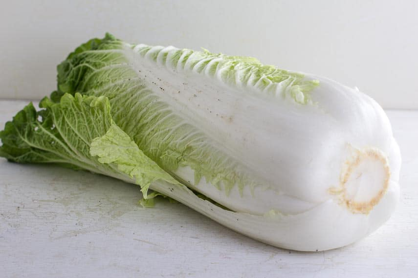 Root end of Napa cabbage