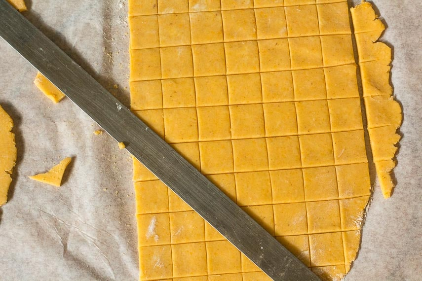cutting out low FODMAP cheese crackers