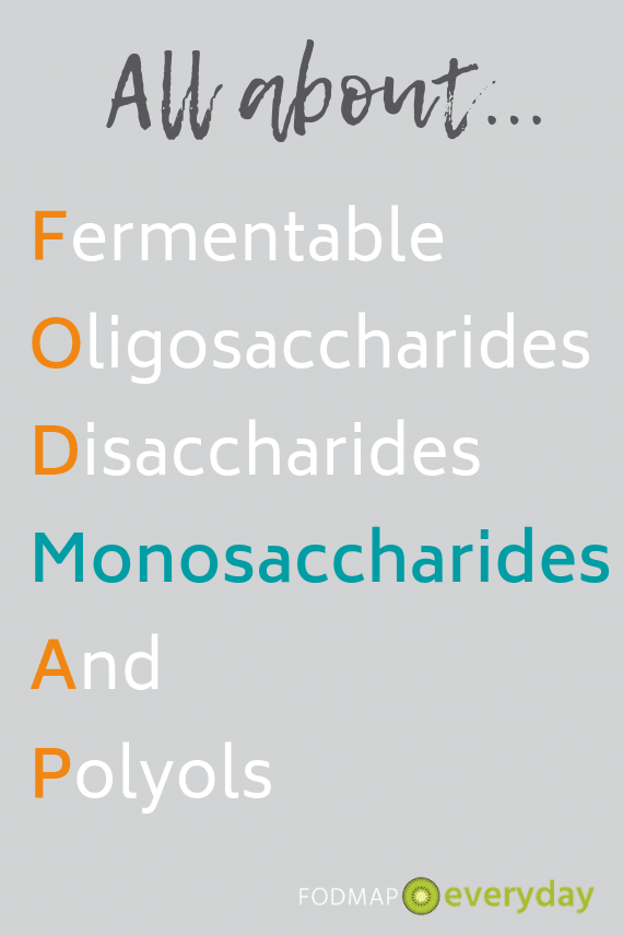 FODMAP graphic highlighting Monosaccharides