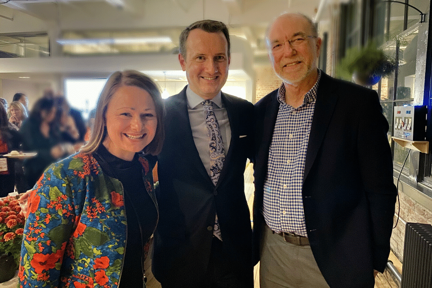 Jessica Biesiekierski, PhD, RNutr Lecturer and Research Fellow of Dietetics and Human Nutrition at La Trobe University in Australia with Richard Bennett, Co-Founder of Epicured and Dr. Peter Gibson, Head of the Department of Gastroenterology at Monash