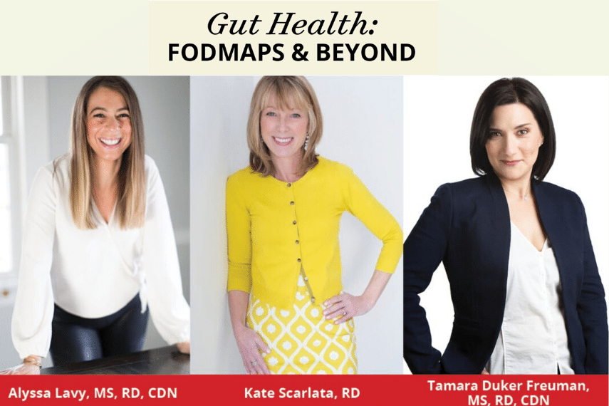 Poster of guest speakers at Epicured's Gut Health: FODMAPs and Beyond