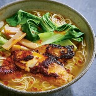 miso cod ramen in bowl