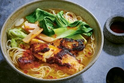 miso cod ramen in bowl