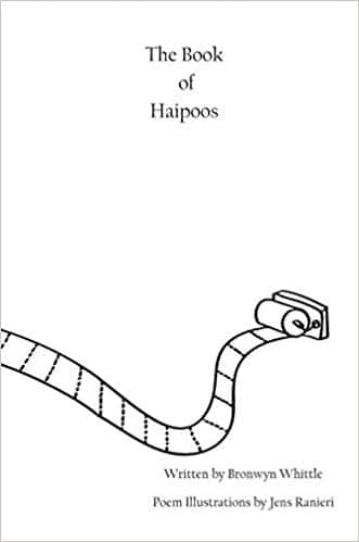 """Black and white cover for """"The Book of Haipoos"""""""