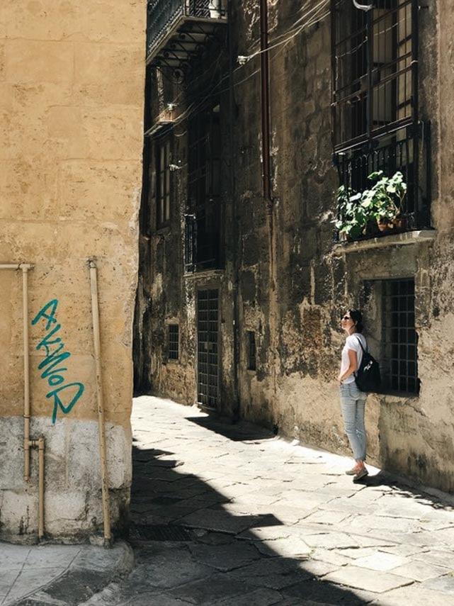 street scene Sicily