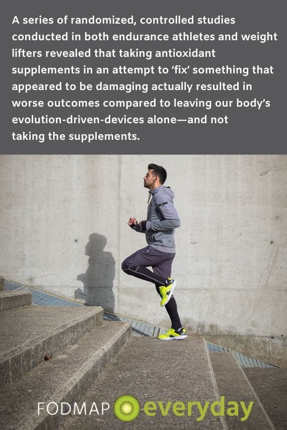 a picture of a male runner running up a flight of stairs