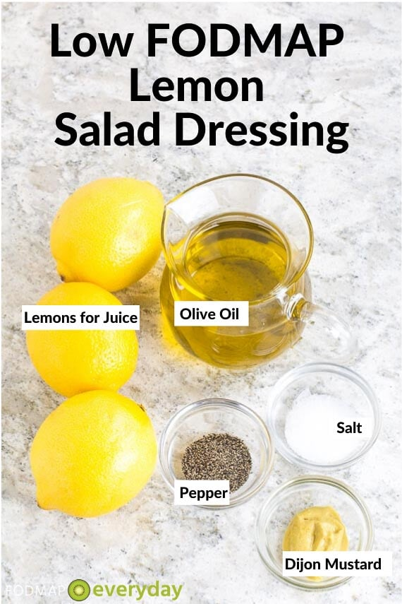Image of Ingredients for Low FODMAP Lemon Salad Dressing