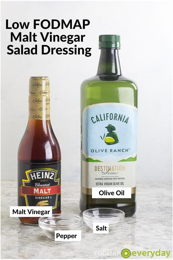 Image of Ingredients for Low FODMAP Malt Vinegar Salad Dressing