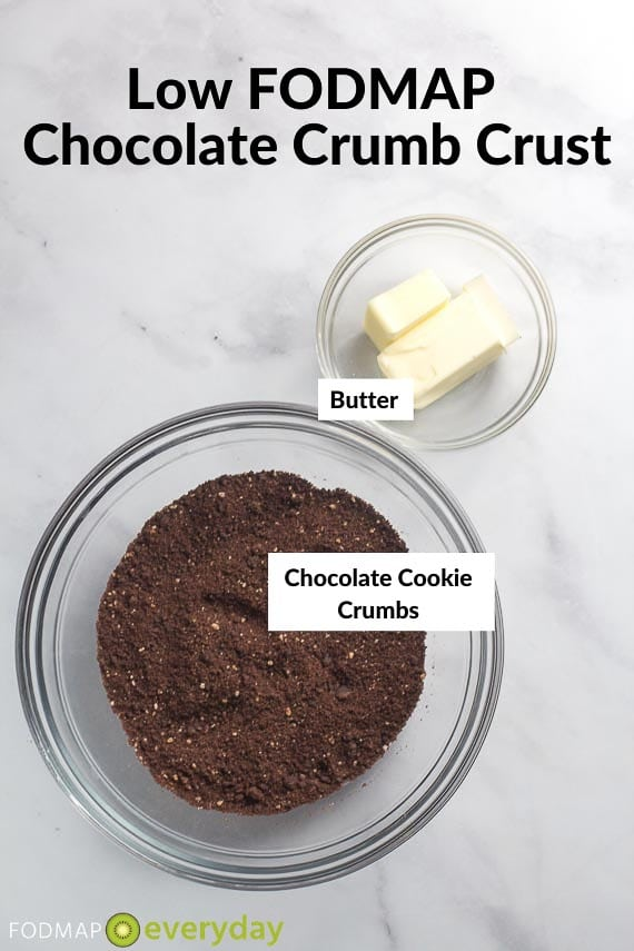 Ingredients for Chocolate Cookie Crumb Crust