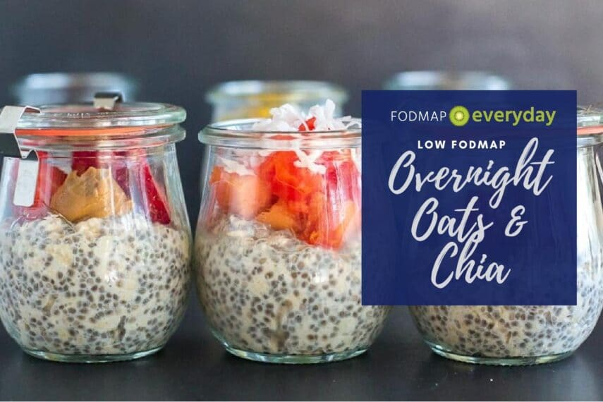 Overnight Oats and Chia in glass jars