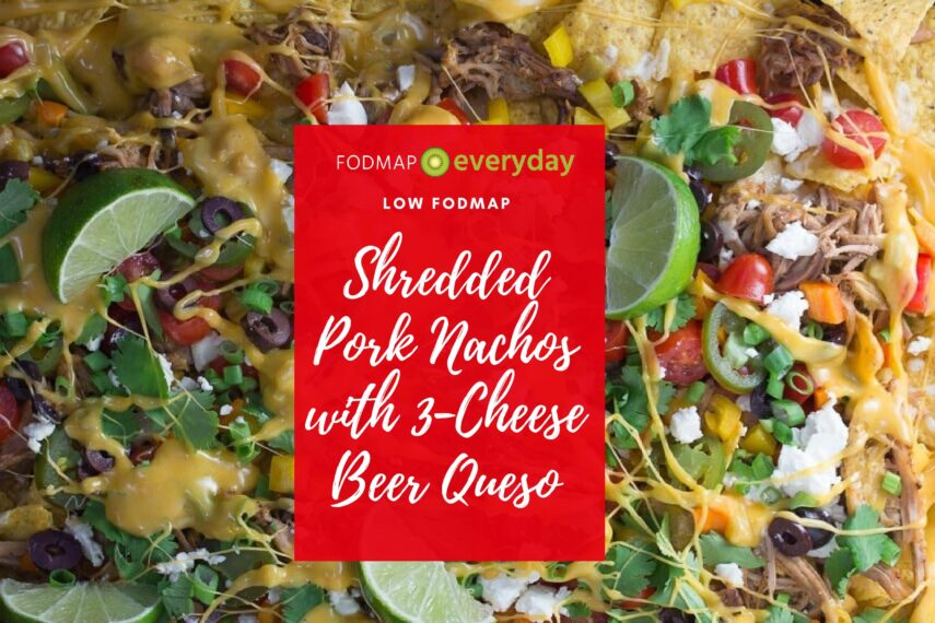 Slow Cooked Pork Nachos with 3 Cheese Beer Queso