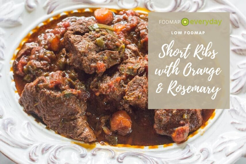 low FODMAP short ribs with rosemary and orange