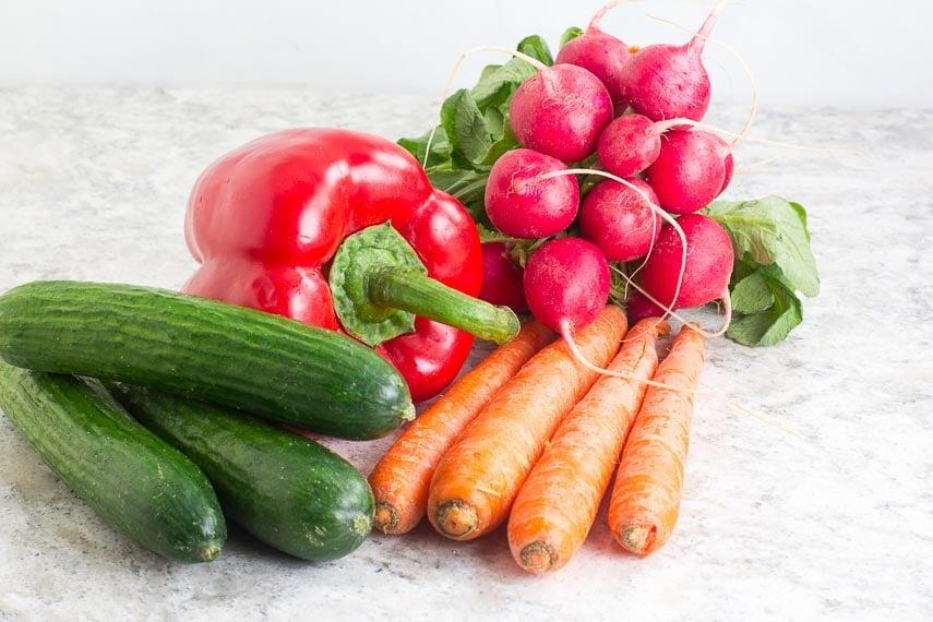 No FODMAP vegetables for crunchy salads