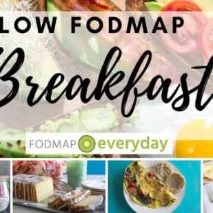 collage of low fodmap breakfast images for feature image
