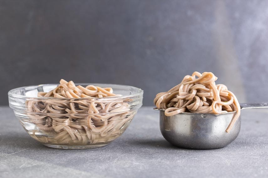 90 g of soba, cooked, is more than the one-third cup that Monash states