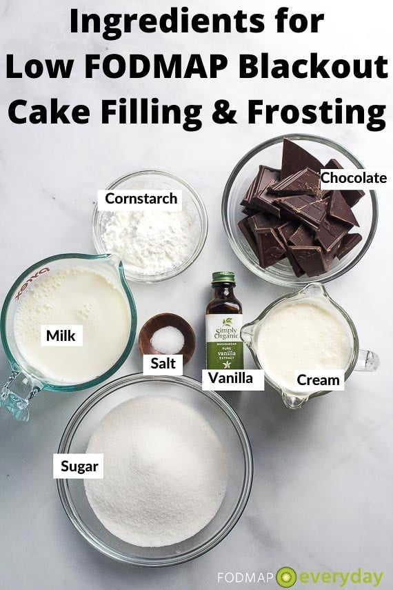 Ingredients for Blackout Cake Filling and Frosting