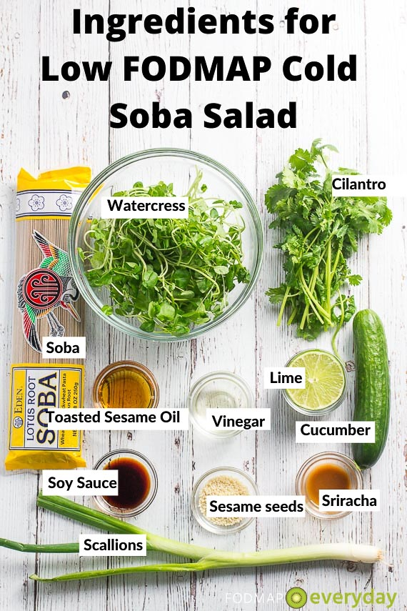 Ingredients for Cold Soba Salad