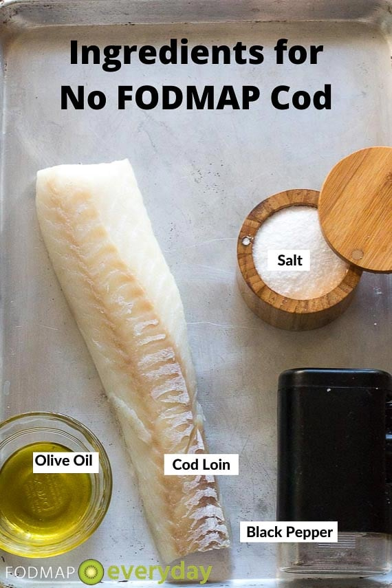 Ingredients for No FODMAP Cod
