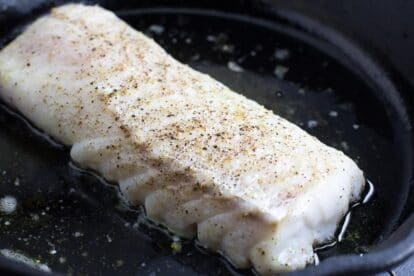 No FODMAP cod in cast iron pan
