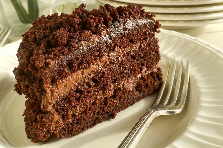closeup of Blackout Cake