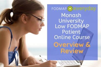 Monash University Low FODMAP Patient Course: Overview & Review