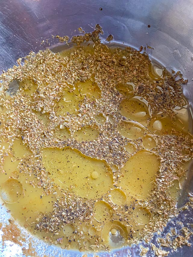 Making marinade for Cuban-Style Roast Pork