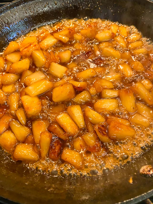 pineapple is now caramelized