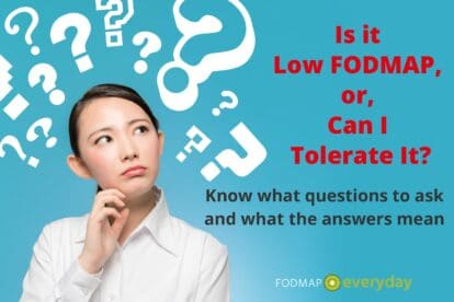 is it low fodmap or can I tolerate it?