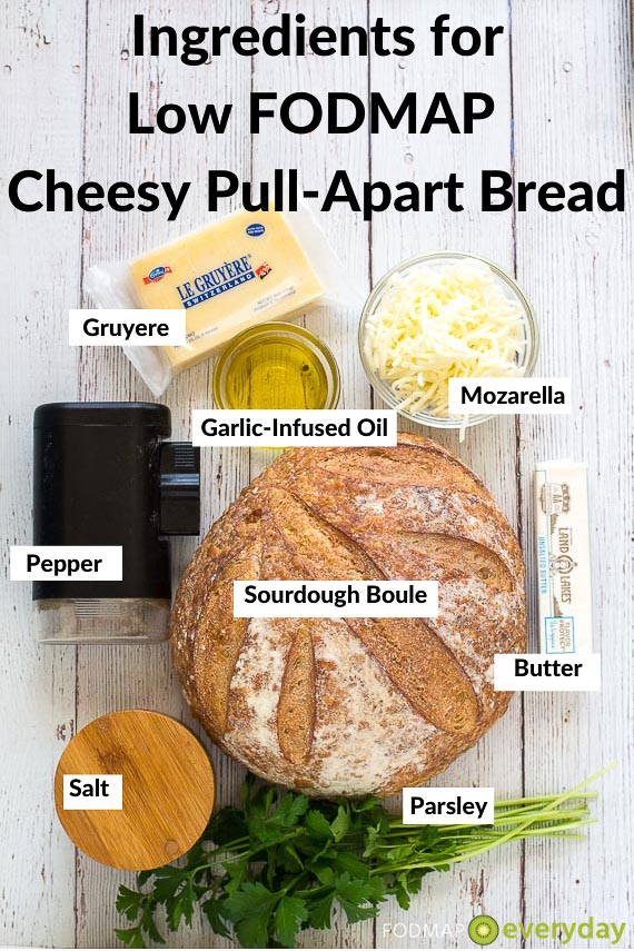 Ingredients for Cheesy Pull Apart Bread