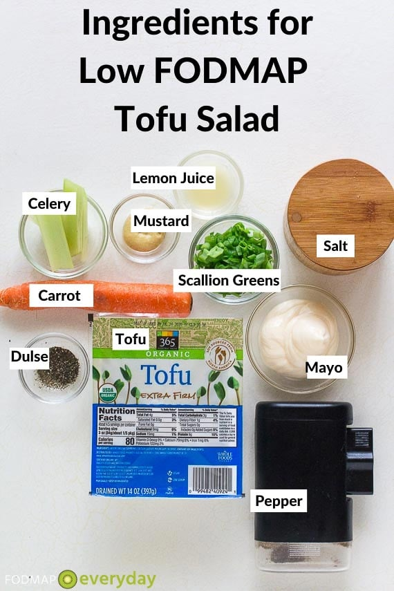 Ingredients for Low TOFU Salald