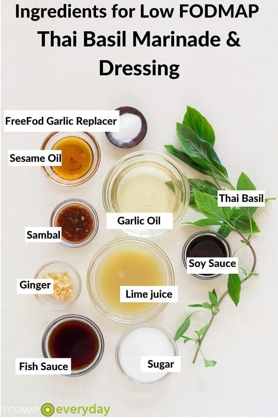 Ingredients for Thai Basil marinade