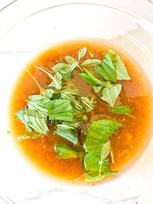 adding Thai basil to vinaigrette