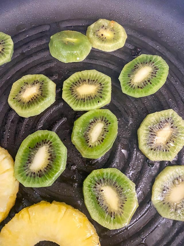 grilling fruit for salsa