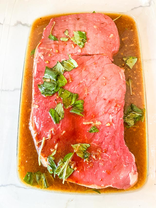 marinating steak