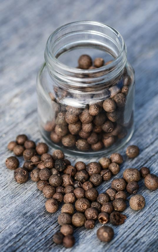 whole allspice in jar and out on counter