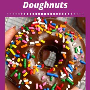 Low FODMAP Baked Chocolate Doughnuts