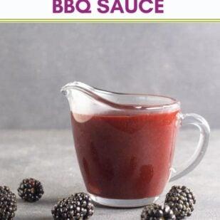 Low FODMAP Blackberry Maple BBQ Sauce