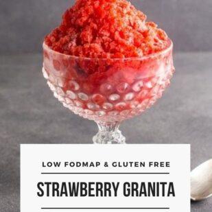 Low FODMAP Strawberry Granita