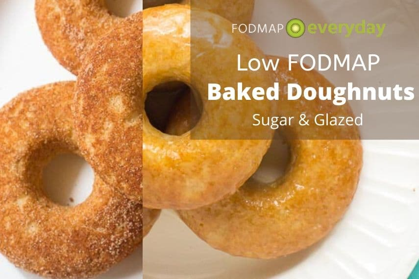 Low FODMAP Baked Doughnuts - Sugar and Glazed