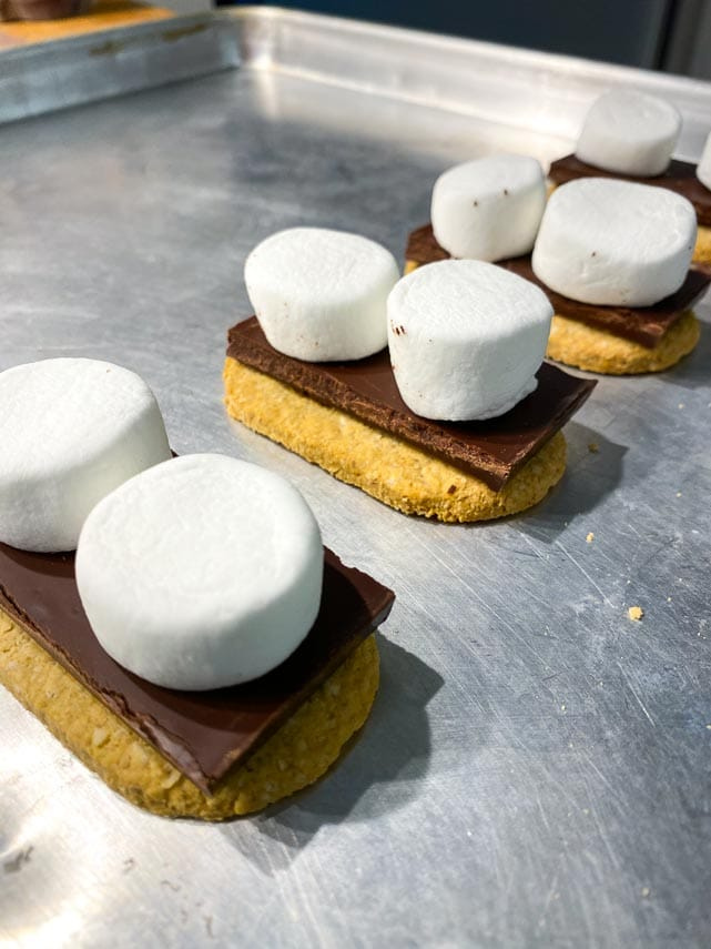 Low FODMAP S'Mores ready to go in oven