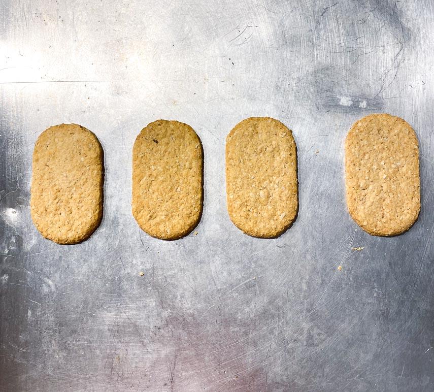 Place gluten free graham crackers on baking sheet pan