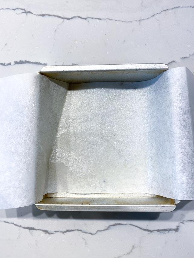 prepped 8-inch (20 cm) pan